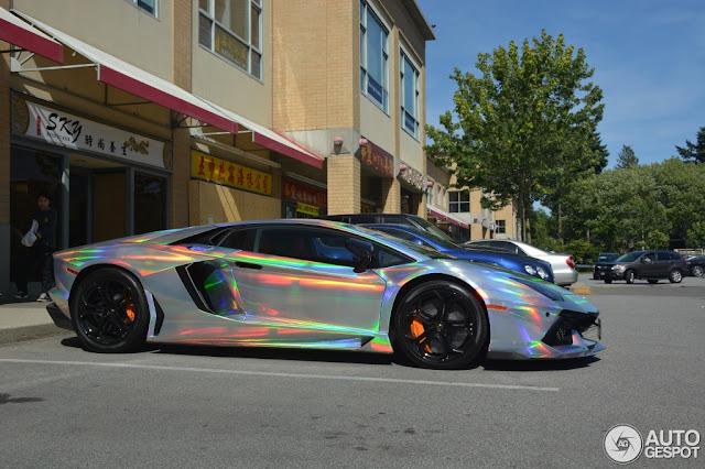Lamborghini Aventador Rainbow Car Image Idea