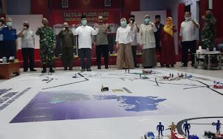 Petugas Covid-19 Lombok Barat Gelar Tactical Floor Game