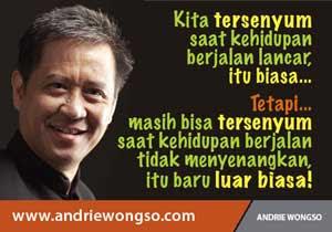 Kata bijak , Biografi Andrie Wongso
