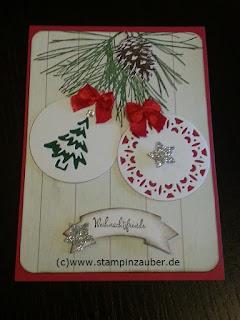 Weihnachtskarten von Silvi Provolija Unabh, Stampin' Up! Demonstratorin aus Jena Thüringen erstellt mit dem Set Fröhliche Anhänger und Klassische Weihnacht