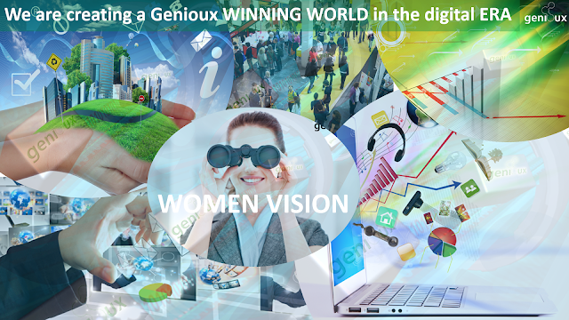 We are creating a Genioux WINNING WORLD in the digital ERA, Women Vision