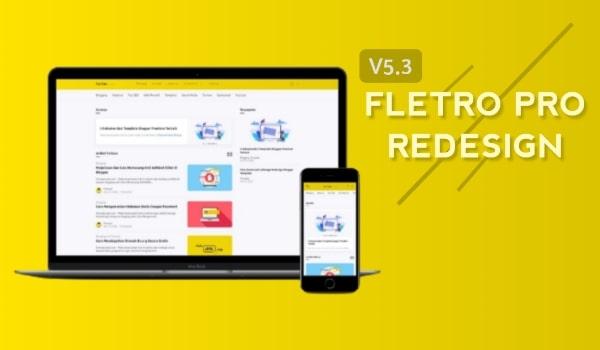 Fletro Pro V5.3 Redesign Blogger Template