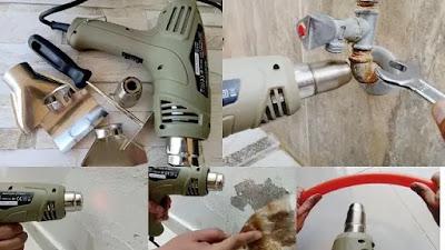 صورة توضح استخدامات المسدس الحراري