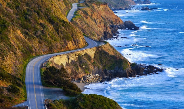 Estradas da Califórnia para carro