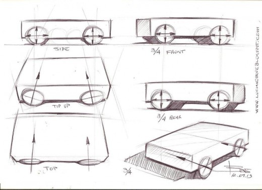 Drawing wheels in perspective. Car sketching tips. – lucianobove.com