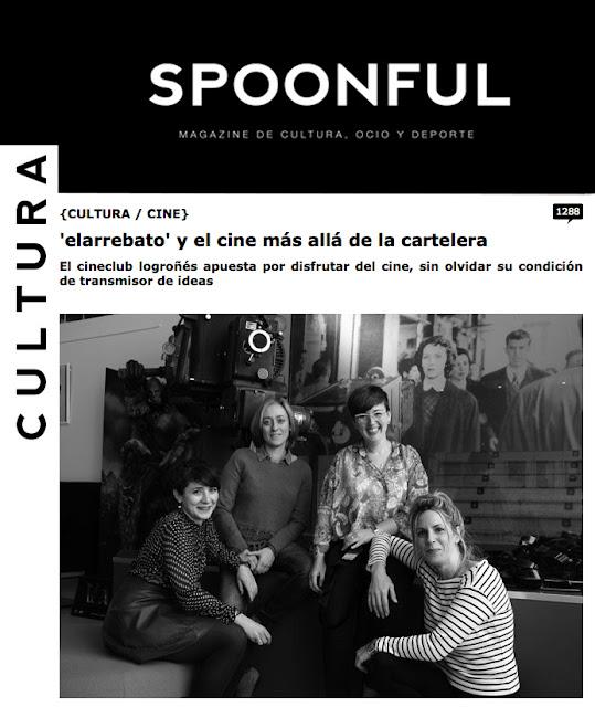Pantallazo del reportaje en el Magazine Spoonful.es