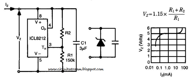 build a programmable zener circuit diagram