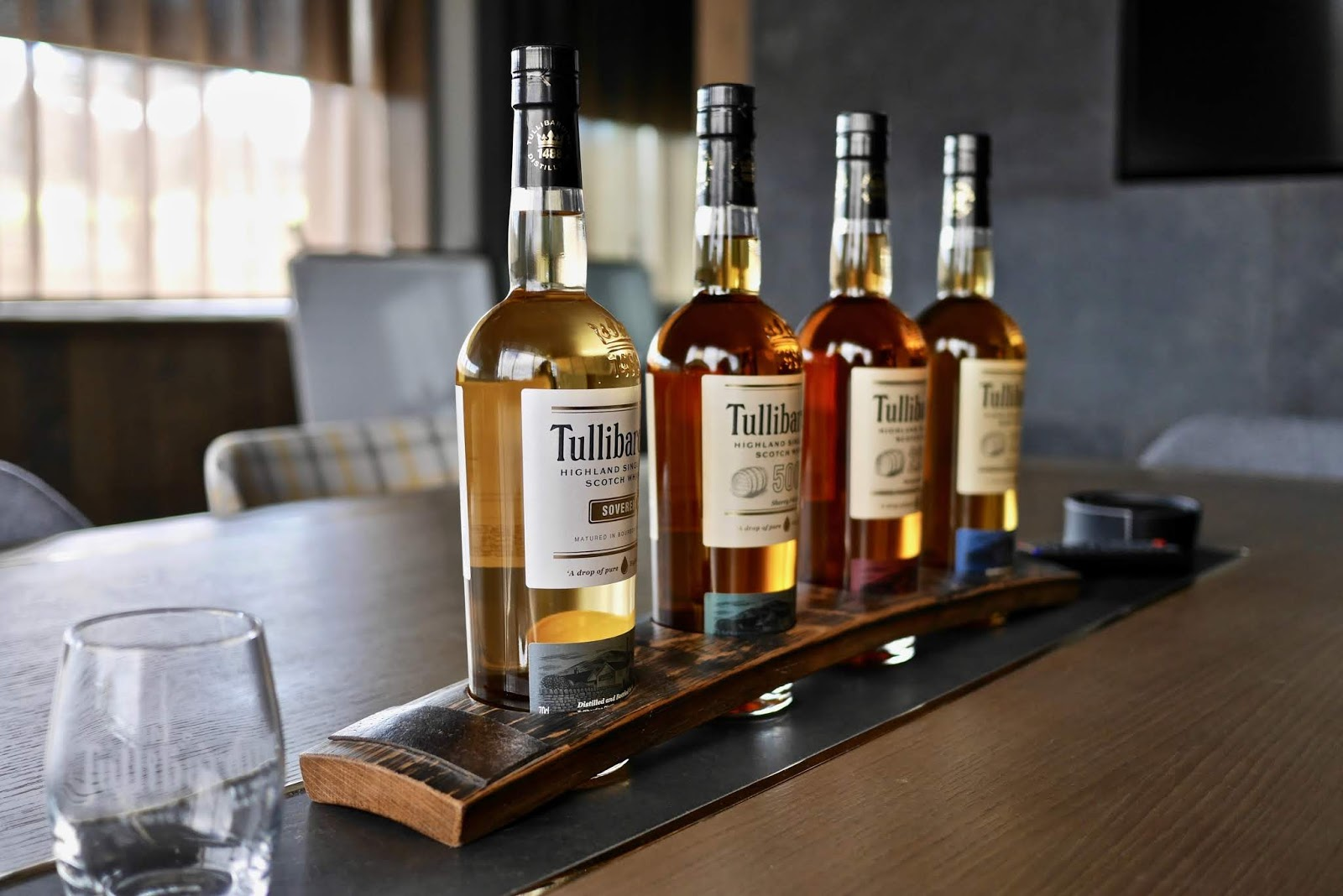 Tullibardine Whisky core range of whisky including the wood finish