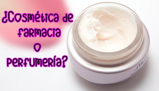cosmética de farmacia o perfumeria