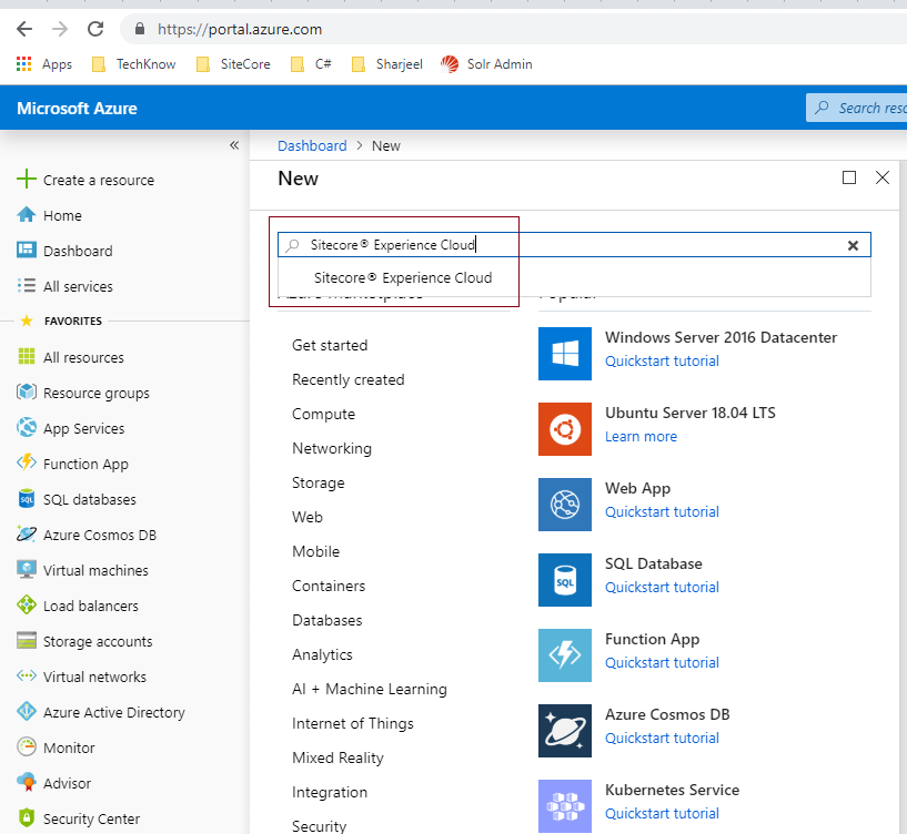Set Up and Configure of Sitecore 9+ application on Azure