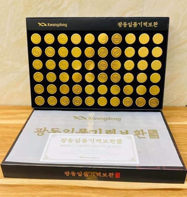 An cung ngưu hoàng kwangdong hộp 60 viên