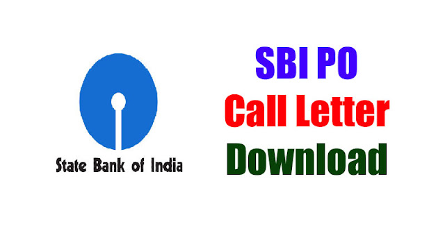 SBI PO Call Letter Download