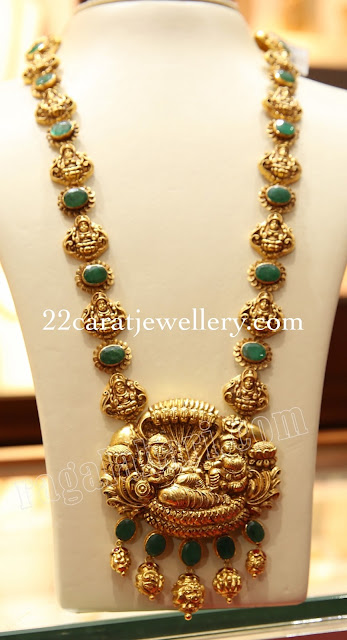 Emerald Lakshmi Long Chain by Malabargold