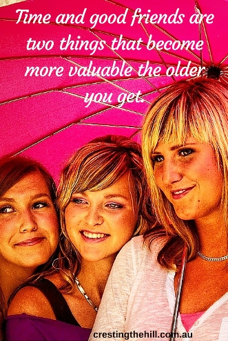 Time and good friends are two things that become more valuable the older you get #friendship