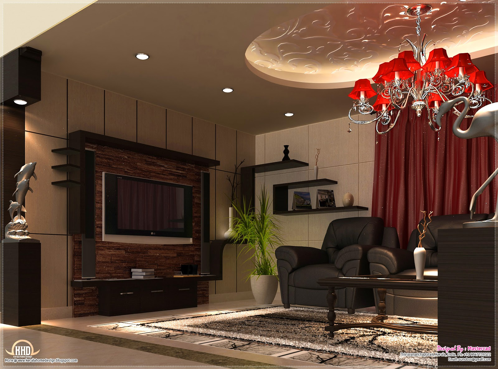Interior design ideas home kerala plans for 1 bhk living room interior