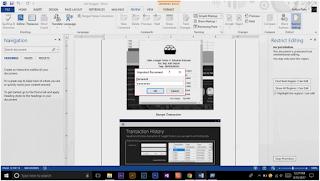Cara Memberi Password File Microsoft Word