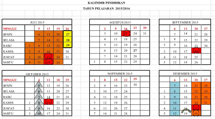 Analisis Kalender Pendidikan 2016 2017 Dokumen Guru Penting