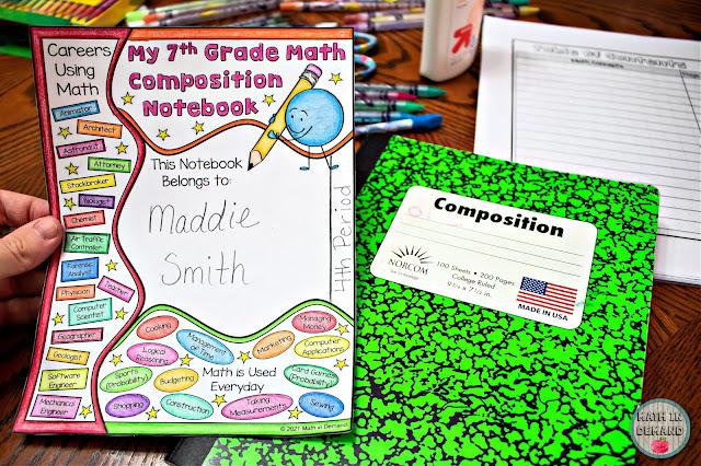 7th Grade Math Composition Notebook