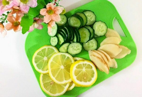 Ginger, Cucumber and Lemon Water to Lose 9 Pounds in One Week