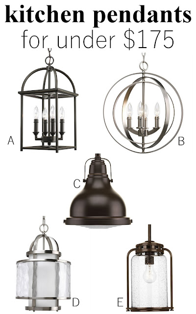 progress lighting, lighting, kitchen lighting, pendant, design, interior design, white kitchen, industrial kitchen, round kitchen table, box valance, kitchen, peninsula, white dining chair, oil rubbed bronze, black lighting, hydrangea, aloof gray, sherwin williams, gray