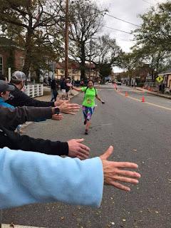 marathoner, chowdah challenge, cape cod, runner, finish line