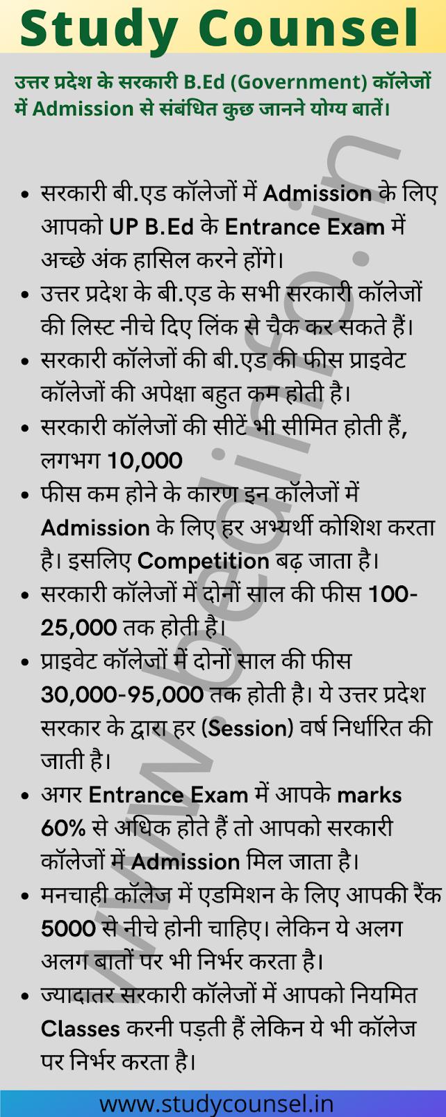 b.ed sarkari colleges