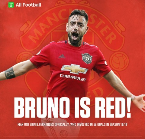Welcome Bruno to Manchester United