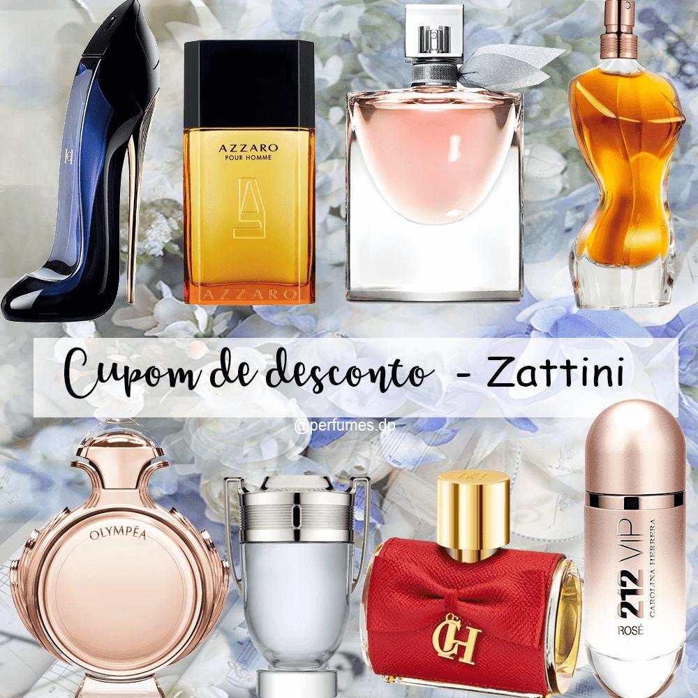 Cupom de desconto Zattini perfumes