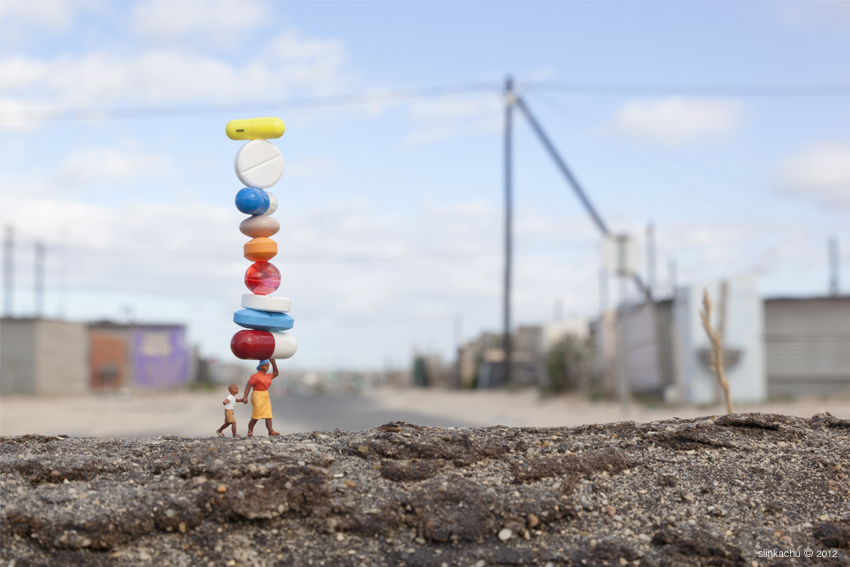 Little People A Tiny Street Art Project Balancing Act