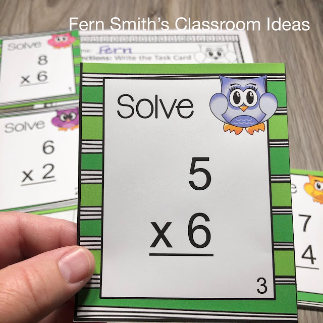 Click Here to Download This Cute Owl Themed Multiplication and Division Task Cards Bundle #FernSmithsClassroomIdeas