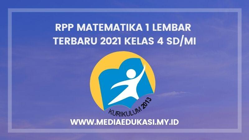 RPP Matematika 1 Lembar Terbaru 2021Kelas 4 SD/MI