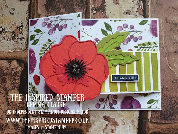 Stampin'Up! Fancy Fold Poppy Card