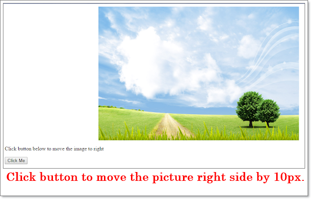 How to move images using JavaScript/jquery from left to right