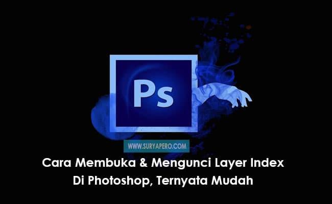 embuka layer yang terkunci pada photoshop