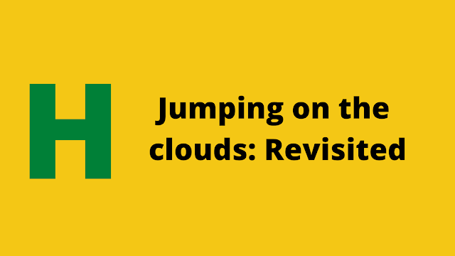 HackerRank Jumping on the Clouds: Revisited problem solution