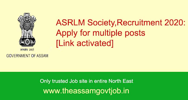 ASRLM Society, Recruitment-the assam govt job
