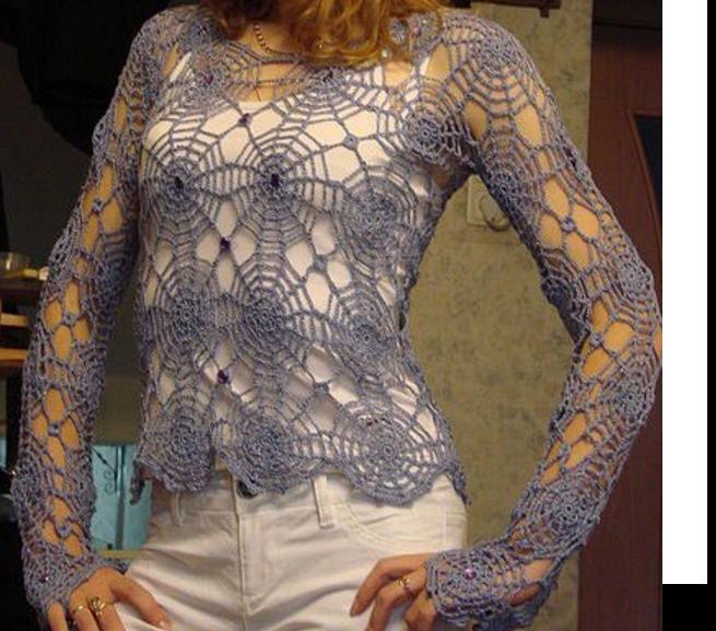 Jersey Tela de Araña en Crochet