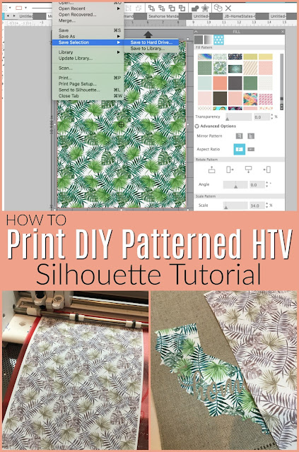 silhouette 101, silhouette america blog, patterned htv, diy htv, diy patterned vinyl