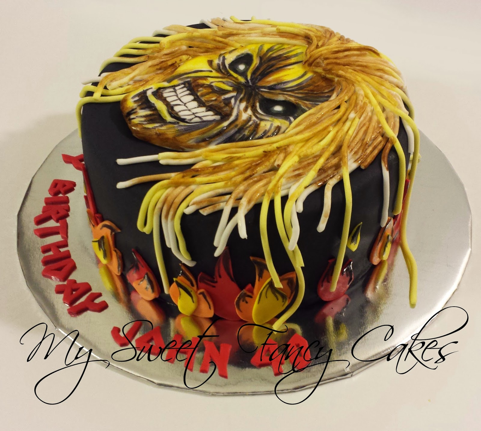 My Sweet Fancy Cakes Quot Bad A Quot Iron Maiden Cake