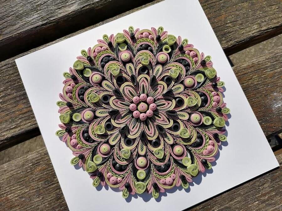 05-Green-and-Pink-Mandala-Quilling-Branka-Miletić-www-designstack-co