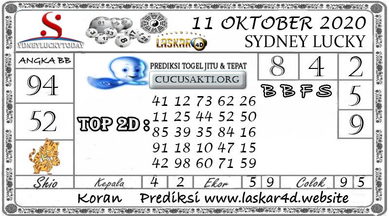 Prediksi Sydney Lucky Today LASKAR4D 11 OKTOBER 2020
