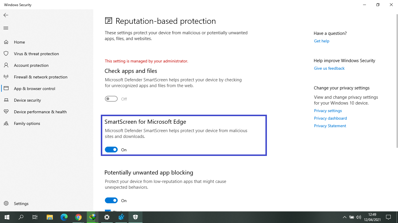 Cara Menonaktifkan Smartscreen Filter pada Windows