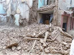 إنهيار منزل مأهول بالسكان بدون إصابات في المراغه بسوهاج