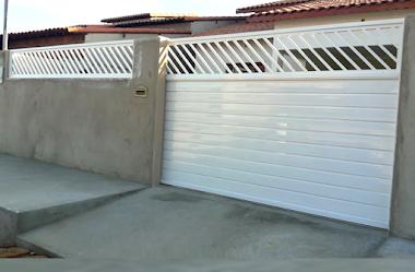 Portão em alumínio branco 35