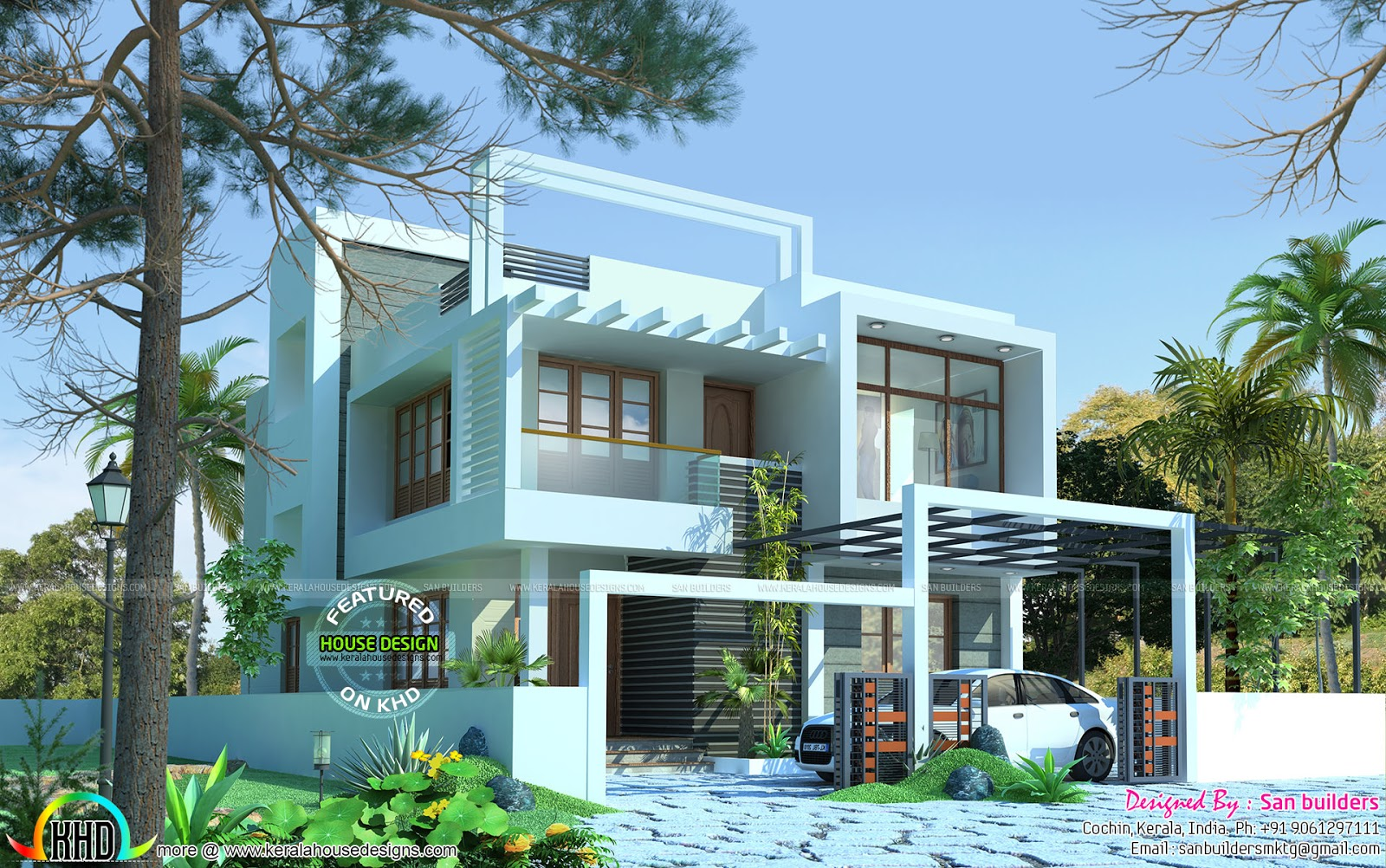 April 2016 kerala home design and floor plans for Contemporary house in kerala