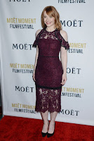 Bryce Dallas Howard in maroon dress with lace cut-out best red carpet dresses photo