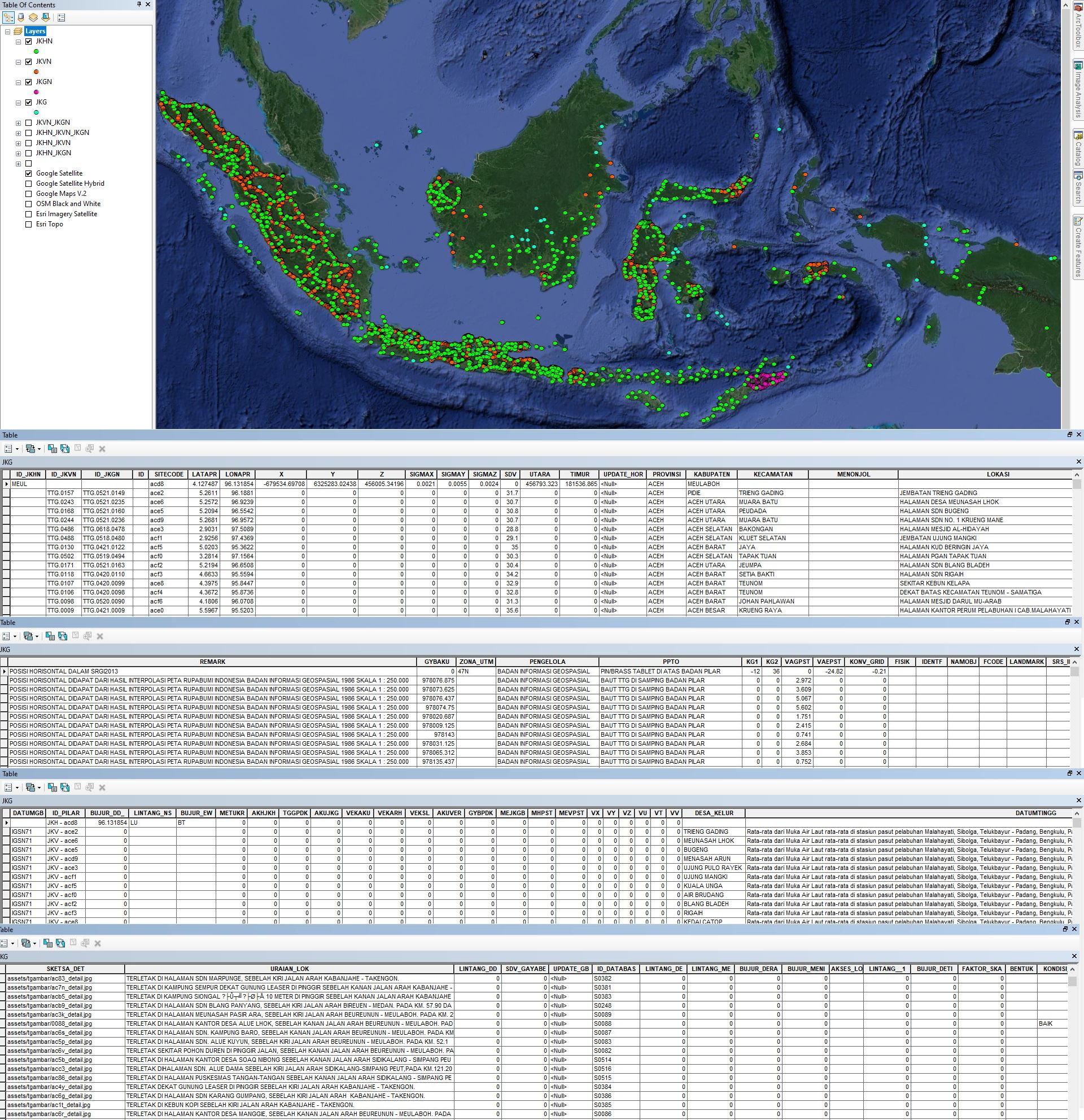 Shapefile Jaring Kontrol Geodesi Terbaru