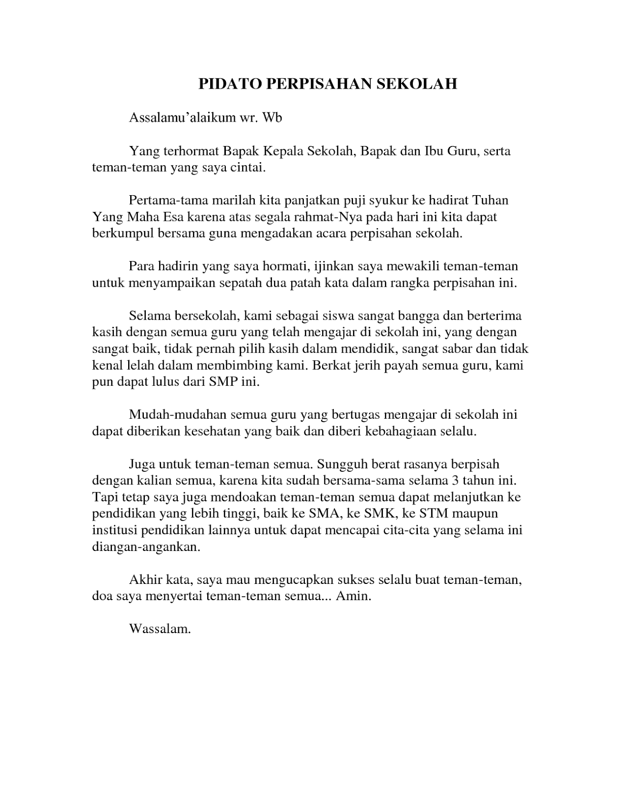 Pidato Tentang Perpisahan : pidato, tentang, perpisahan, CONTOH, PIDATO, PERPISAHAN, KELAS, (enam)