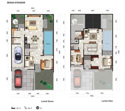 Denah Rumah Minimalis Berkolam Renang Gambar