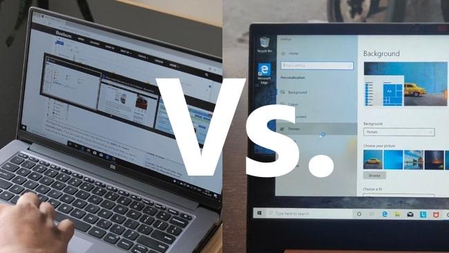 Mi Notebook 14 Horizon vs Lenovo IdeaPad S340 81VV008TIN face-off.